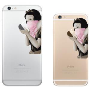 iPhone 7 / iPhone 7 Plus / iPhone 6s / iPhone 6s Plus / アイフォン / アイホン スマホ ステッカー シール 白雪姫 ピンク ギャングスタ プリンセス uandme