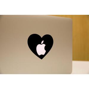 MacBook Air / Pro マックブック ステッカー シール ハート  MacBook アー...