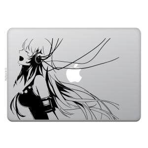 MacBook Air / Pro マックブック ステッカー シール アニメ ミュージック ガール ...