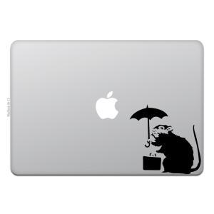 MacBook Air / Pro マックブック ステッカー シール アンブレラ ラット バンクシー...