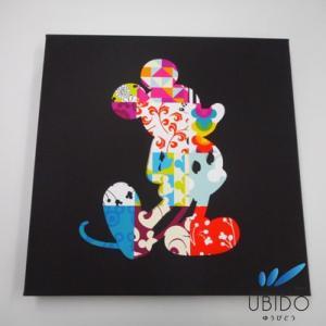 アートパネル パッチワーク2 30角   ディズニー キャンバスアート ウォールアート ファブリックパネル|ubido