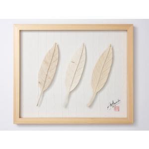 Art Works アグラオネマ白づくし インテリア 壁飾り 和紙 草木染 ギフトト フレームアート|ubido