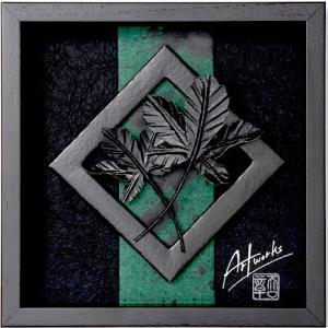 Art Works マロニエ KURO インテリア 壁飾り 和紙 草木染 ギフトト フレームアート|ubido