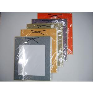紙緞子色紙掛け 紙緞子 カバー付 作品掛け|ubido