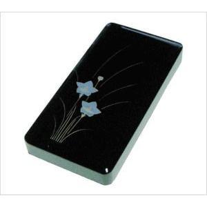 硯箱36 黒漆桔梗 4.0寸 書道用具入れ 道具箱 ギフト 贈答品|ubido