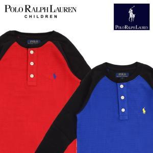 ラフルローレン RALPH LAUREN キッズ 子供服 長袖 Tシャツ ワッフル ボタン付き|ubl