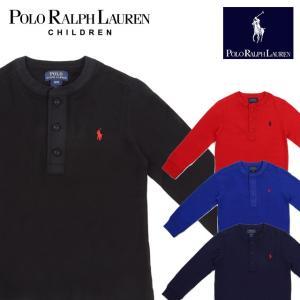 ラフルローレン RALPH LAUREN キッズ 子供服 長袖 Tシャツ ボタン付き|ubl