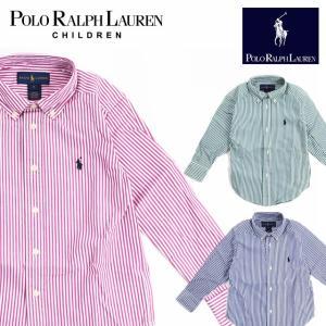 ラフルローレン RALPH LAUREN キッズ 子供服 長袖 シャツ ボーダー ストライプ|ubl