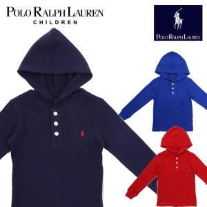 ラフルローレン RALPH LAUREN キッズ 子供服 長袖 Tシャツ ワッフル フード付き|ubl