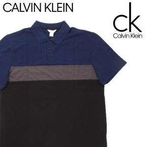 カルバンクライン calvin klein CK メンズ  ポロシャツ 半袖 ゆったり 薄手 ネイビーブラック ubl