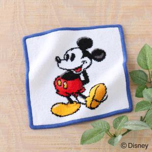 タオルハンカチ 子供 キャラクター Disney ディズニーシェニールミッキーマウス 約20×20c...