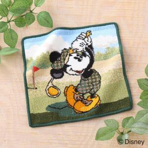タオルハンカチ 子供 キャラクター Disney ディズニー ミッキーマウスゴルフ 約25×25cm...
