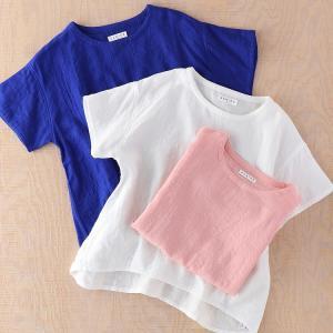 シャツ Tシャツ UCHINO マシュマロガーゼ レディース タックTシャツ シャツ 部屋着 綿100% トップス ウチノタオル 内野タオル|UCHINO Online Shop