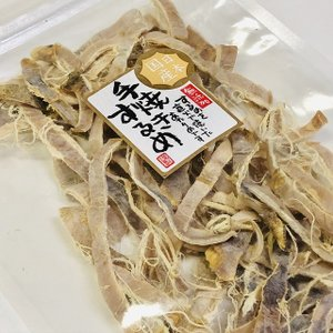 【送料無料】塩分少なめ 国産無添加 減塩手焼きするめあたりめ お徳用100g便利なチャック袋入り