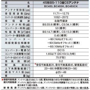 DX 45形BS・110度CSアンテナセット BC453K|uchinoneko|02