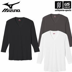 ミズノ MIZUNO メンズ ブレスサーモ エブリ Vネック長袖シャツ C2JA5601/ブレスサーモアンダー/2016〜17年秋冬継続モデル