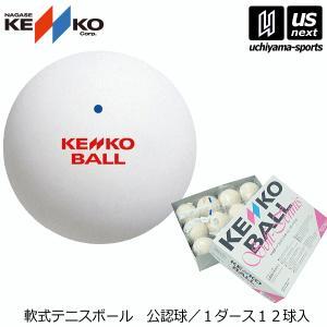 ナガセケンコー NAGASE KENKO ソフトテニスボール ホワイト(TSOW−V) 公認球/1ダース/軟式/2017年継続モデル (メール便不可)[自社]
