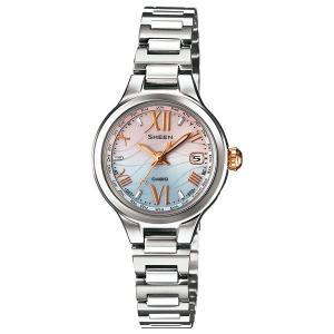 SHW-1700D-7AJF CASIO カシオ SHEEN シーン  電波ソーラー世界6局 レディース腕時計 ポイント消化|udetokei-watch