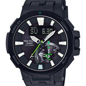 PROTREK プロトレック CASIO カシオ ネオンイルミネーター レトログラード針 黒 ブラック スマートアクセス 電波ソーラー PRW-7000-1AJF