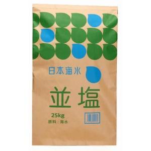 塩 業務用 日本海水 並塩 25kg (讃岐工場) の画像