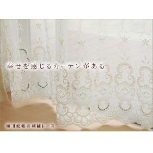 エンブロイダリー レースカーテン (2541262)幅100cm−丈88〜133cm 2枚組|uedakaya