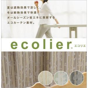 エコリエ 遮光カーテン 遮熱 断熱 2級遮光 アルベ 幅100cm−丈90〜135cm 2枚組|uedakaya
