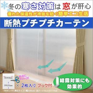防寒 断熱 カーテン ライナー プチプチ カーテン 幅100cm×2枚 ロング丈 窓 間仕切り ビニール 冷気からガード|uedakaya
