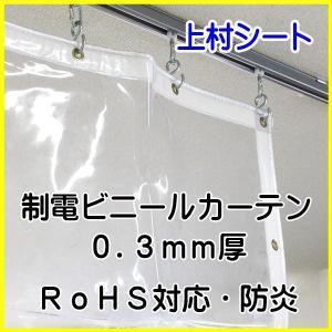 帯電防止 ビニールカーテン 0.3mm厚x幅130-195cmx高さ105-125cm