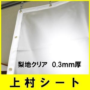 ビニールカーテン 梨地クリア 半透明 0.3mm厚x幅130-195cmx高さ50-100cm
