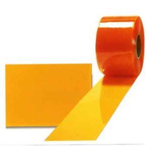 のれん型ビニールドアカーテン 防虫オレンジ制電フラットタイプ 2mm×200mm×12m アキレスミエール uemura-sheet