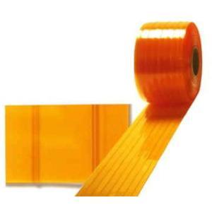 ビニールカーテン のれん式 防虫オレンジ制電ラインタイプ 3mm×300mm×30m アキレスミエール uemura-sheet