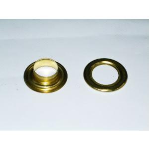 ばら売り ハトメ(アイレット) (真鍮/ゴールド)  15mm/#30 uemura-sheet