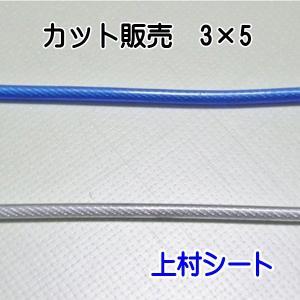 カット販売 ビニール被覆ワイヤーロープ (外径5mm-内径3mm)|uemura-sheet