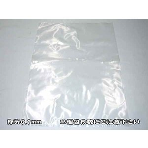 ポリ袋 透明 厚手 厚み0.1mm×幅75mm×深さ130mm×1セット(1000枚入)|uemura-sheet