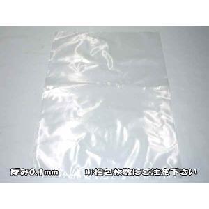 ポリ袋 透明 厚手 PE袋 厚み0.1mm×幅255mm×深さ400mm×1セット(500枚入)|uemura-sheet