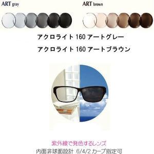 アクロライト160アートグレー アクロライト160アートブラウン 調光レンズ ACROLITE160ARTGRAY ACROLITE160ARTBROWN 内面非球面 単焦点 ITOレンズ|uemuramegane