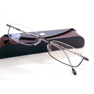 ブライトグラス G043-BR 老眼鏡 リーディンググラス シニアグラス 読書用 メガネ 男性用 女性用 メンズ レディース おしゃれ 逆ナイロール g043|uemuramegane