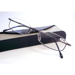 ブライトグラス G043-GM 老眼鏡 リーディンググラス シニアグラス 読書用 メガネ 男性用 女性用 メンズ レディース おしゃれ 逆ナイロール g043ブライトS g043s|uemuramegane