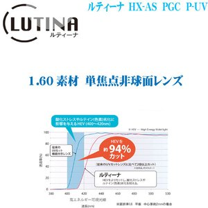 ルティーナ HX AS PGC 160素材 単焦点レンズ 東海光学|uemuramegane