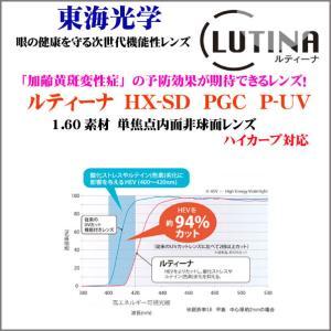 ルティーナ HX SD PGC 160素材 単焦点レンズ 東海光学|uemuramegane