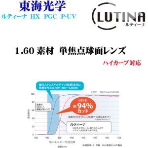 ルティーナ HX UV PGC 160素材 単焦点レンズ 東海光学|uemuramegane
