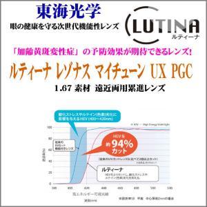 ルティーナ レゾナスマイチューン UX PGC 遠近両用167素材 累進レンズ 東海光学|uemuramegane