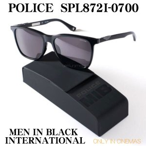 ポリス POLICE サングラス 2019 SPL872I-0700 MEN IN BLACK INTERNATIONAL ONLY IN CINEMAS メンインブラック オフィシャル限定サングラス MIB spl872i 0700|uemuramegane
