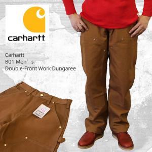 Carhartt  カーハート B01 Men's Double-Front Work Dungaree ダブルニーダックペインターパンツ/ブラウン/