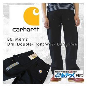 Carhartt  カーハート B01 Men's Double-Front Work Dungaree ダブルニーダックペインターパンツ /ブラック/
