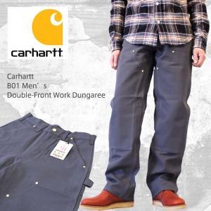 Carhartt  カーハート B01 Men's Double-Front Work Dungaree ダブルニーダックペインターパンツ /グラベル/日本最速導入