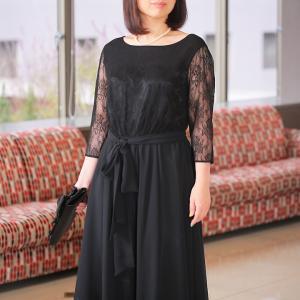 【レンタル】【送料無料】ミセスドレス ブラック【品番gd_329】サイズ 13号 結婚式 パーティー...