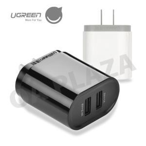 USB 急速充電器コンセントアダプター 2ポートで二台同時スマホ充電 17W PSE認証済み iPhone8など対応 新品 1年保証 UGREEN 白20575 黒20576 TH|ugreen-oaplaza