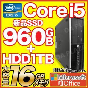 デスクトップパソコン 中古パソコン Windows10 MicrosoftOffice2019 新品SSD960GB 新品HDD1000GB メモリ16GB 第三世代Corei5 USB3.0 DVDマルチ HP DELL|ugreen-oaplaza