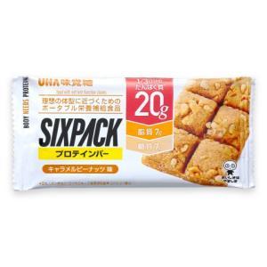 UHA味覚糖 SIXPACK シックスパック プロテインバー キャラメルピーナッツ味 1個 低糖質|uha-mikakuto